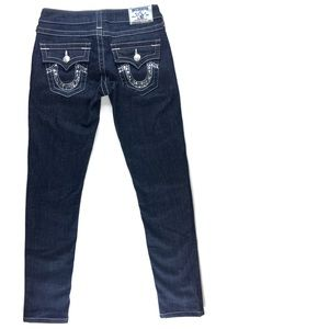True Religion Crystal Pocket Dark Skinny Jean
